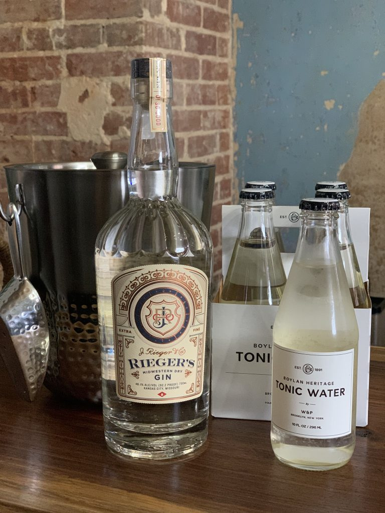 Reiger Gin and Boylan Heritage Tonic in-room package available